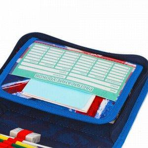 """Пенал BRAUBERG с наполнением, 1 отделение, откидная планка, 24 предмета, 21х14 см, """"Football"""", 229293"""