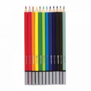"""Карандаши цветные акварельные BRAUBERG """"Pretty Girls"""", 12 цветов, заточенные, картонная упаковка, 180567"""