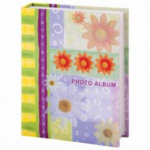 """Фотоальбом BRAUBERG на 200 фотографий 10х15 см, твердая обложка, """"Настроение"""", разноцветный, 390670"""
