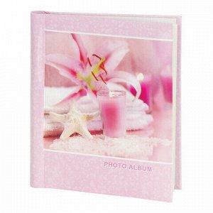 """Фотоальбом BRAUBERG на 10 магнитных листов, 23х28 см, """"На память"""", розовый, 390682"""