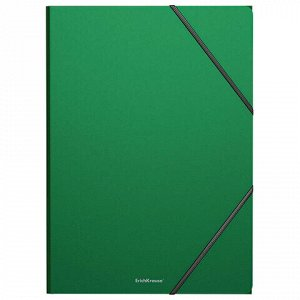 "Папка на резинках ERICH KRAUSE ""Classic"", А4, до 300 листов, 400 мкм, зеленая, 43094"