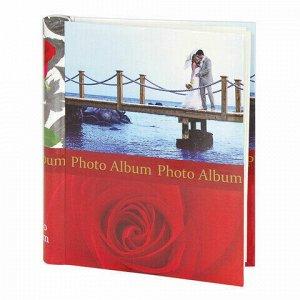 """Фотоальбом BRAUBERG на 20 магнитных листов, 23х28 см, """"Чувства"""", красный, 390685"""
