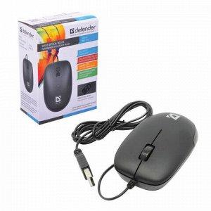 Мышь проводная DEFENDER Datum MM-010, USB, 2 кнопки + 1 колесо-кнопка, оптическая, черная, 52010