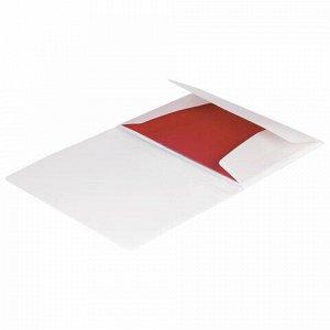 """Папка на резинках BRAUBERG """"Office"""", белая, до 300 листов, 500 мкм, 228080"""