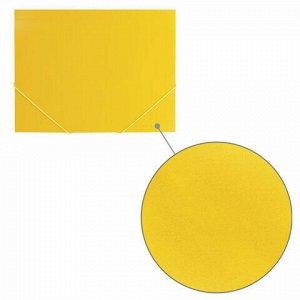 "Папка на резинках BRAUBERG ""Office"", желтая, до 300 листов, 500 мкм, 228082"