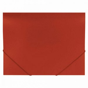 "Папка на резинках BRAUBERG ""Office"", красная, до 300 листов, 500 мкм, 227711"