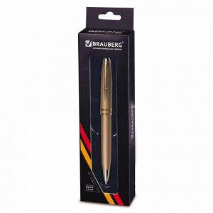 """Ручка подарочная шариковая BRAUBERG """"Oceanic Gold"""", корпус золотистый, узел 1 мм, линия письма 0,7 мм, синяя, 140722"""
