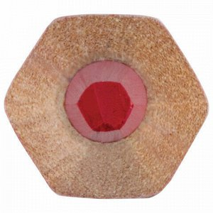 Карандаш двухцветный, красно-синий, утолщённый, BRAUBERG, заточенный, грифель 4,0 мм, 181262