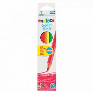 Карандаши цветные CARIOCA (Италия), 6 цветов, грифель 3 мм, шестигранные, заточенные, европодвес, 41256