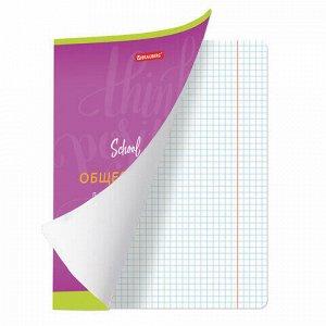 Тетрадь предметная ПАЛИТРА ЗНАНИЙ 36 листов, обложка мелованная бумага, ОБЩЕСТВОЗНАНИЕ, клетка, BRAUBERG, 403498