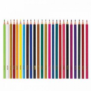 """Карандаши цветные ПИФАГОР """"ЛЕСНЫЕ ЖИТЕЛИ"""", 24 цвета, пластиковые, классические заточенные, 181336"""