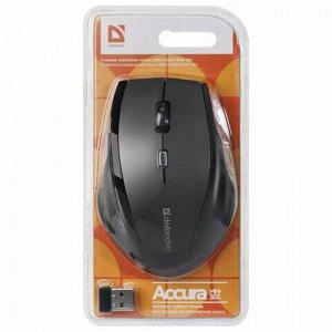 Мышь беспроводная DEFENDER Accura MM-365, 5 кнопок + 1 колесо-кнопка, оптическая, черная, 52365