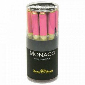 Ручка шариковая BRUNO VISCONTI Monaco, коралловый корпус, узел 0,5 мм, линия 0,3 мм, синяя, 20-0125/20
