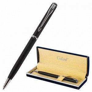 """Ручка подарочная шариковая GALANT """"Arrow Chrome Grey"""", корпус серый, хромированные детали, пишущий узел 0,7 мм, синяя, 140652"""