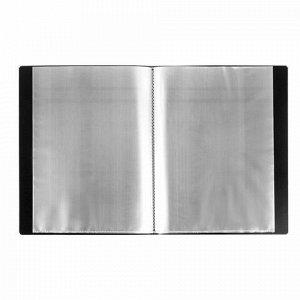 Папка 40 вкладышей BRAUBERG стандарт, черная, 0,7 мм, 221604