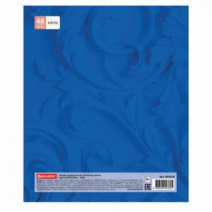 Тетрадь предметная КЛАССИКА 48 листов, обложка картон, МХК, клетка, подсказ, BRAUBERG, 403520