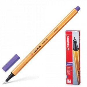 """Ручка капиллярная (линер) STABILO """"Point"""", ФИОЛЕТОВАЯ, корпус оранжевый, линия письма 0,4 мм, 88/55"""