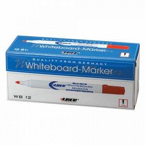 Маркер стираемый для белой доски КРАСНЫЙ, LACO (ЛАКО, Германия), 3 мм, WB12