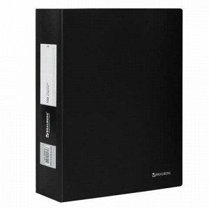 "Папка 100 вкладышей BRAUBERG ""Office"", черная, 0,8 мм, 222641"