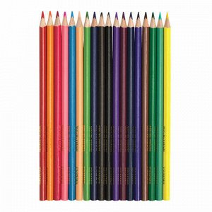 """Карандаши цветные ГАММА """"Мультики"""", 18 цветов, заточенные, трехгранные, картонная упаковка, 05091808, 050918_08"""