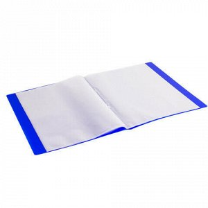 """Папка 20 вкладышей BRAUBERG """"Neon"""", 16 мм, неоновая, синяя, 700 мкм, 227451"""