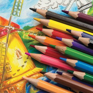 """Карандаши цветные ГАММА """"Классические"""", 18 цветов, заточенные, шестигранные, картонная упаковка, 05091803, 050918_03"""