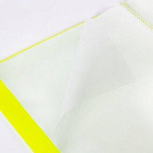 """Папка 40 вкладышей BRAUBERG """"Neon"""", 25 мм, неоновая желтая, 700 мкм, 227453"""