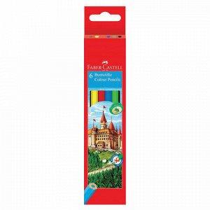 Карандаши цветные FABER-CASTELL, 6 цветов, картонная упаковка с подвесом, 120106