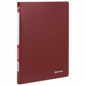 """Папка 30 вкладышей BRAUBERG """"Office"""", красная, 0,5 мм, 222630"""
