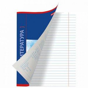 Тетрадь предметная NAVIGATOR 48 листов, выборочный лак, ЛИТЕРАТУРА, клетка, подсказ, BRAUBERG, 403544