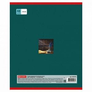 Тетрадь предметная NAVIGATOR 48 листов, выборочный лак, РУССКИЙ ЯЗЫК, клетка, подсказ, BRAUBERG, 403545