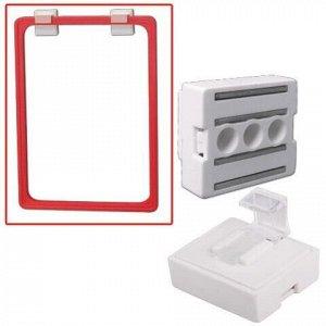 Держатель рамки POS магнитный, для крепления рамки параллельно поверхности, белый, 290272
