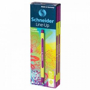 """Ручка капиллярная (линер) SCHNEIDER (Германия) """"Line-Up"""", НЕОНОВО-КРАСНАЯ, трехгранная, линия письма 0,4 мм, 191060"""