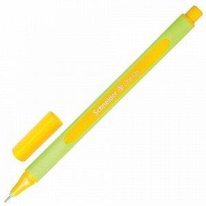 """Ручка капиллярная (линер) SCHNEIDER (Германия) """"Line-Up"""", ЗОЛОТИСТО-ЖЕЛТАЯ, трехгранная, линия письма 0,4 мм, 191005"""