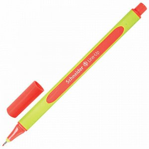 """Ручка капиллярная (линер) SCHNEIDER (Германия) """"Line-Up"""", КОРАЛЛОВАЯ, трехгранная, линия письма 0,4 мм, 191022"""