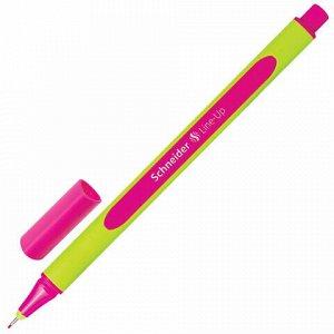 """Ручка капиллярная (линер) SCHNEIDER (Германия) """"Line-Up"""", МАЛИНОВАЯ, трехгранная, линия письма 0,4 мм, 191028"""