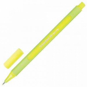 """Ручка капиллярная (линер) SCHNEIDER (Германия) """"Line-Up"""", НЕОНОВО-ЖЕЛТАЯ, трехгранная, линия письма 0,4 мм, 191064"""