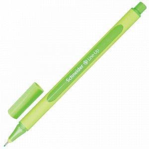 """Ручка капиллярная (линер) SCHNEIDER (Германия) """"Line-Up"""", НЕОНОВО-ЗЕЛЕНАЯ, трехгранная, линия письма 0,4 мм, 191063"""
