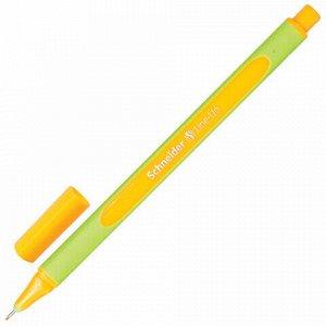 """Ручка капиллярная (линер) SCHNEIDER (Германия) """"Line-Up"""", НЕОНОВО-ОРАНЖЕВАЯ, трехгранная, линия письма 0,4 мм, 191065"""