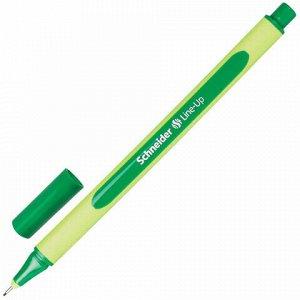 """Ручка капиллярная (линер) SCHNEIDER (Германия) """"Line-Up"""", ТЕМНО-ЗЕЛЕНАЯ, трехгранная, линия письма 0,4 мм, 191004"""