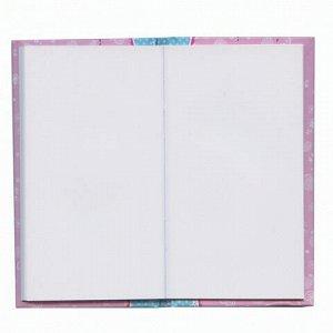 """Блокнот А5 (95х170 мм), 80 л., твердый переплет, без линовки, ручка+блок, подарочная упаковка, BRAUBERG, """"Цветы"""", 128411"""