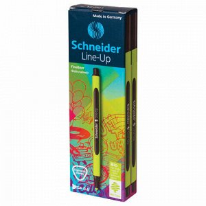 """Ручка капиллярная (линер) SCHNEIDER (Германия) """"Line-Up"""", ЧЕРНЫЙ САПФИР, трехгранная, линия письма 0,4 мм, 191001"""