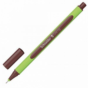 """Ручка капиллярная (линер) SCHNEIDER (Германия) """"Line-Up"""", КОРИЧНЕВАЯ, трехгранная, линия письма 0,4 мм, 191018"""