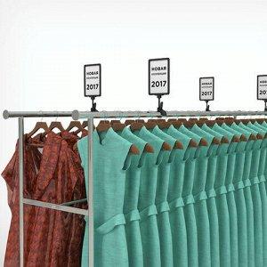 Держатели-прищепки для рамок POS универсальные, КОМПЛЕКТ 10 шт., CLAMP-T, пластиковые, прозрачные, 102186-00
