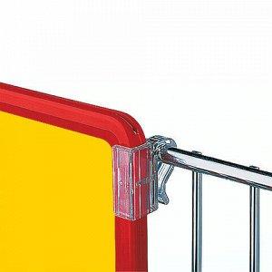 Клипсы B-CLIP для крепления рамок POS, КОМПЛЕКТ 20 шт., пластик, максимальный диаметр крепления 8 мм, 102195