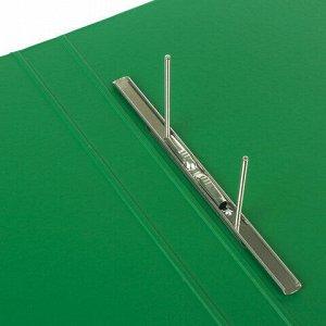 Папка с металлическим пружинным скоросшивателем BRAUBERG, картон/ПВХ, 35 мм, зеленая, до 290 листов, 228339