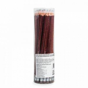 Карандаш чернографитный KOH-I-NOOR, 1 шт., HB, трехгранный, с резинкой, корпус коричневый, заточенный, 18030HB001TD