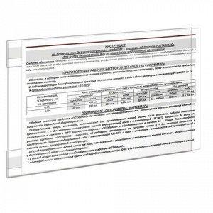Карманы информационные самоклеящиеся PS-T, А4, горизонтальные, КОМПЛЕКТ 10 шт., ПЭТ, толщина 0,3 мм, 171883