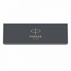 """Ручка шариковая PARKER """"Jotter Plastic CT"""", корпус черный, детали из нержавеющей стали, синяя, R0033010"""