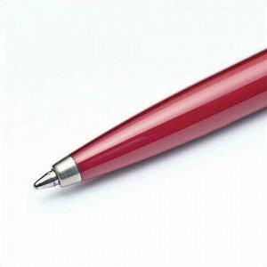 """Ручка шариковая PARKER """"Jotter Plastic CT"""", корпус красный, детали из нержавеющей стали, синяя, R0033330"""